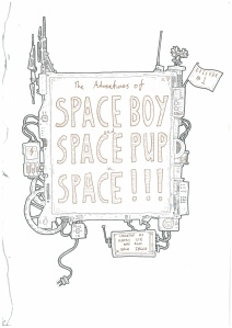 Space Boy and Pup Illustrations 5